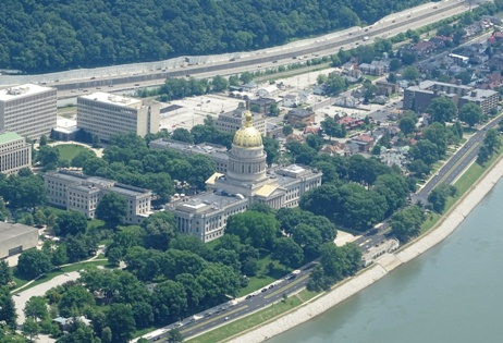Prayer Flight Over West Virginia Capitol