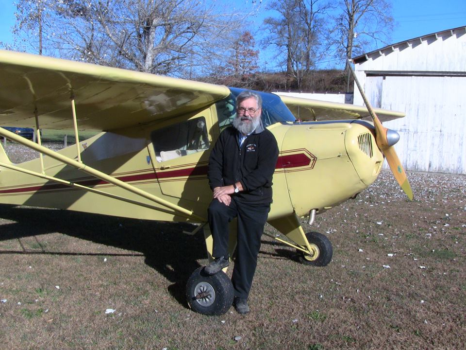 David Hersman, CFI, 1941 Taylorcraft at Pence Spring, WV